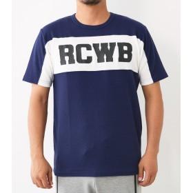 (ロデオクラウンズ ワイドボウル) RODEO CROWNS WIDE BOWL RCWB スイッチング ハニカム Tシャツ メンズ 421BAW90-0440 ネイビー Large