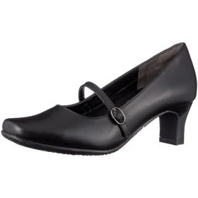 [ルソン] 5cmヒールパンプス 牛革 履きやすい レディース ブラック 22.5 cm