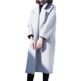 TAOHUA レディース コート トレンチコート ロングコート ゆったりコート 気質コート 厚くコート 新番  スウェット  (M, ホワイト)