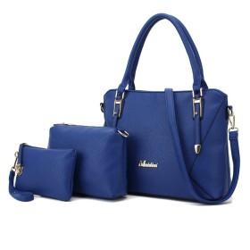 ウィッグの館 レディースレディースデイリーファッション&ビジネスダイヤモンドチェックリッチーパターンアリゲーターパターンスタイルPUレザーハンドバッグ+ショルダーバッグ+財布3pcsバッグトート