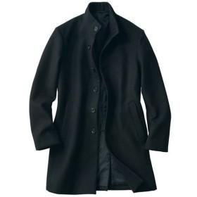 【メンズ】 メルトン仕上げ素材スタンドカラーコート。嬉しいウォッシャブル仕様! - セシール ■カラー:ブラック ■サイズ:M