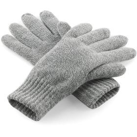 (ビーチフィールド) Beechfield ユニセックス シンサレート サーマル ニット手袋 ニットグローブ 冬 防寒 (L/XL) (ヘザーグレー)