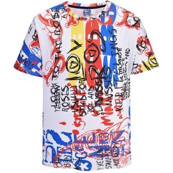 [pizoff by zero]Tシャツ 半袖 カットソー メンズ ゆったり おしゃれ 薄手 涼しい カジュアルY1824-24-M