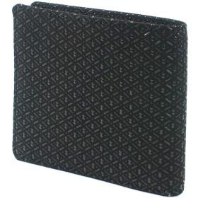 INDEN-YA 印傳屋 印伝 財布 二つ折り財布 メンズ 男性用 黒×黒 ひょうたん 2005-01-007
