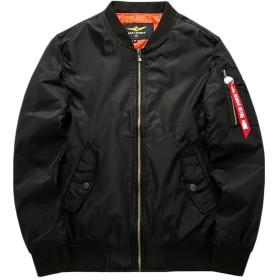 (ラクエスト) Laquest 中綿入り フライトジャケット ma-1ジャケット (4XL, ブラック)