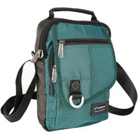 Vanlison ヴァンリゾン 縦型メッセンジャーバッグ, 斜め掛けバッグ, ショルダーバッグiPadタブレット対応 レイクブルー