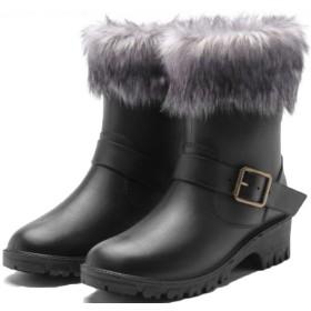 [ヘブンデイズ] Heaven Days レインシューズ 裏ボア あったか レインブーツ 雨靴 ファー付き かわいい レディース 1801D0668