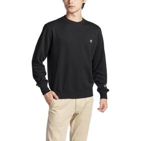 [チャンピオン] ワンポイントロゴ クルーネック スウェットシャツ ベーシック C3-C019 メンズ ブラック 日本 M (日本サイズM相当)