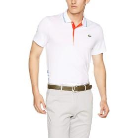 [ラコステ] SPORT GOLF レタリング ストレッチテクニカルジャージー 半袖ポロシャツ DH3360L メンズ ホワイト EU 003-(日本サイズM相当)