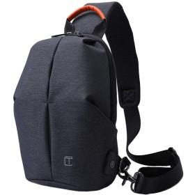 Olens ショルダーバッグ ボディバッグ ワンショルダー 斜め掛け メンズ レディース USB付2色 軽量 防水 通勤 通学 旅行 アウトドア 男女兼用 胸バッグ iPad収納可 カバン