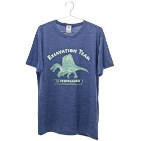 (カロラータ) COLORATA ミュージアムデザイン Tシャツ スピノサウルス Lサイズ ネイビー