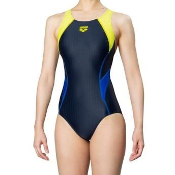 アリーナ 水泳 スーパーストリーナ 着やストラップ 競泳 水着 ガールズ ジュニア ARN-9051WJ-NVLM 返品不可