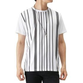 半袖Tシャツ ネックレス セット Real Standard リアルスタンダード ネックレス付きTシャツ 391151MH メンズ ホワイトストライプ:M