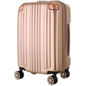 レジェンドウォーカー スーツケース ポリカーボネート 機内持込 ファスナー フレームタイプ ダブルキャスター ローズゴールド S(ファスナー)