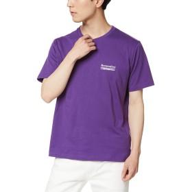 ウィゴー(メンズ)(WEGO) ストリートモチーフTシャツ【パープル/M】