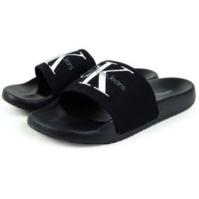 [カルバンクライン] サンダル Calvin Klein SANDAL レディース シャワーサンダル スリッパ ブラック 24.0cm 幅狭め [並行輸入品]