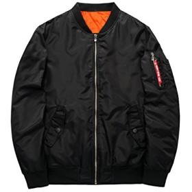 フライトジャケット ミリタリージャケット ブルゾン MA-1 ブラック XLサイズ 全4サイズ 重量600g チャックタイプ 腕ポケット付 キルティング付 ポリエステル タイト [並行輸入品]