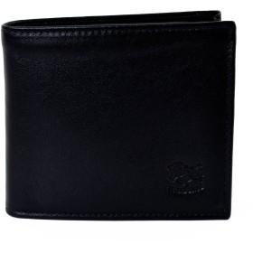 [イルビゾンテ] IL BISONTE 財布 二つ折り C0487 本革 レザー ウォレット (名入れあり ブラック(153))