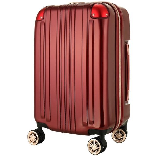 レジェンドウォーカー スーツケース ポリカーボネート 機内持込 ファスナー フレームタイプ ダブルキャスター ワインレッド SS(ファスナー)