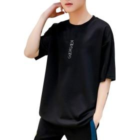 X大丈夫KO 半袖 tシャツ メンズ 夏服 五分袖 男女兼用 七分袖 トップス カップル 汗染み防止 肌着 派手 ゆったり 機能素材 シンプル ファッション 吸水性