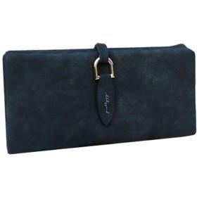[シント エム] プリティー デザイン 可愛い PUレザー ソフト素材 長財布 (ブラック)