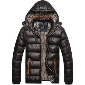 全5色 ダウンジャケット メンズ ジャケット コート フード付き 無地 アウトドア カジュアル 中綿 軽量 防風防寒コート ブルゾン 大きサイズ ファション