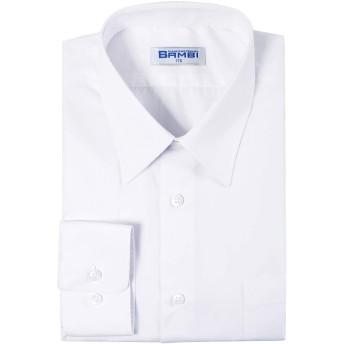 男子 長袖 学生用 Yシャツ スクールシャツ BAMBI バンビ 形態安定 抗菌防臭 制服 標準体型A体用 カッターシャツ (155)
