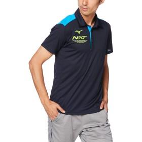 [Mizuno] トレーニングウェア N-XT ポロシャツ 半袖 細身 吸汗速乾 32JA9275 ディープネイビー×ブリリアントブルー 日本 M (日本サイズM相当)