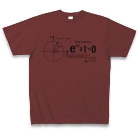 (クラブティー) ClubT 数学Tシャツ:オイラーの等式D_黒:学問・数式・科学 M バーガンディ