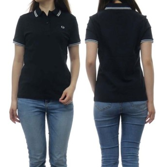 FRED PERRY フレッドペリー レディースポロシャツ G3600 / TWIN TIPPED FRED PERRY SHIRT ブラック