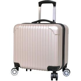 スーツケース 機内持ち込み [DJ002] 超軽量 16インチ 四輪 ABS キャリーケース (シャンパン)