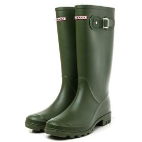 [Estoni] レディース レインブーツ 長靴 ロングブーツ 雨靴 オシャレ 3色 ピンク ブラック 完全防水 防滑 美脚 可愛い 滑り止め 大きいサイズ