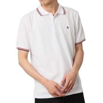 (アーケード) ARCADE メンズ 春 夏 ポロシャツ 吸水速乾 機能性 クール 半袖 ワンポイント ポロシャツ M ホワイト-A