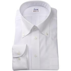 ワイシャツ メンズ長袖(形態安定シャツ)ボタンダウン ドゥエボットーニ 綿ポリ混 軽井沢シャツ [A10KZB357] スリム型