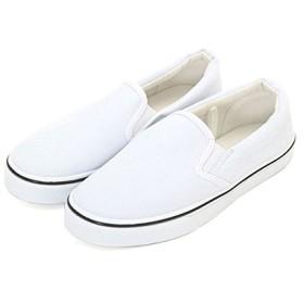 スリッポン レディース ポルカポルカ Polka Polka スニーカー ホワイト 白 シューズ かわいい スリップオン Mサイズ WH.ホワイト