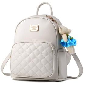 FUPUONE リュックサック ショルダーバッグ ミニリュック ハンドバッグ 女の子 3way 6color (ホワイト)