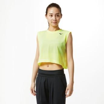 MIZUNO SHOP [ミズノ公式オンラインショップ] スリーブレスショートTシャツ[レディース] 32 セーフティイエロー 32MA9317