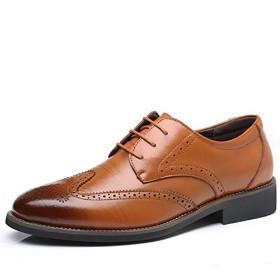 イフユ ビジネスシューズ革靴紳士靴ウイングチップビッグサイズ有りストレートチップドレスシューズ通気性空気循環消臭衝撃吸収軽量