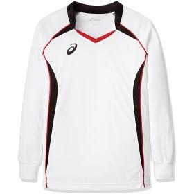 [アシックス] バレーボール シャツ 長袖ゲームシャツ XW1320 [メンズ] ホワイト/ブラック 日本 150 (日本サイズ150 相当)