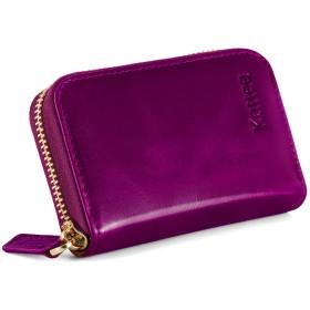 Kattee カードケース カードホルダー 10枚収納 PU 男女兼用 RFID 識別ブロッキング スキミング防止 (紫)