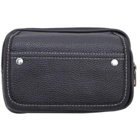 Sperrins PUレザーレディースメンズスマートフォンベルトレザーバッグ収納袋スリーブ財布ポケット黒
