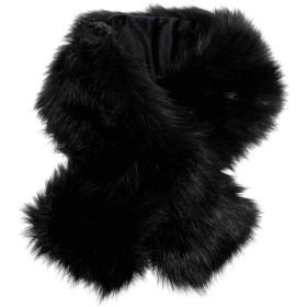 メンズストール専門店MORE Style #01-ブラック#フォックスファー調マフラー/ファー/ファーマフラー/メンズ