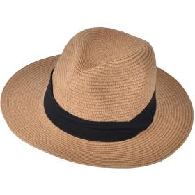 (アーバン ココ)[Urban CoCo] 帽子 レディース 中折れ ハット ペーパー つば広 麦わら帽子 UVカット 日焼け 春 夏 (カーキ)