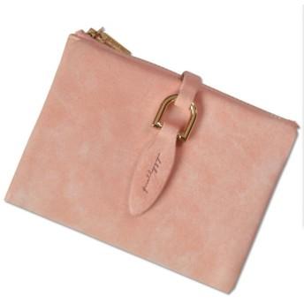 [AMgrocery] 財布 二つ折り財布 レディース [本革] 小銭入れあり 軽量 二つ折り 〈ミニ財布〉 人気 (ピンク)