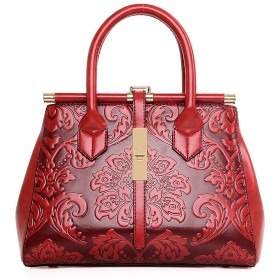 Coolives 女性のハンドバッグヴィンテージ花のプリントバッグエレガントなデザインのバッグショルダーストラップ付