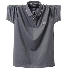 YIGAR 夏 メンズ アウトドア 大きいサイズ ポロ 半袖 シャツ ソフトタッチジャージー 半袖 ポロシャツ 折り襟 速乾 2019新しい 通気性 ボタン 夏 綿 多色選択 M-4XL 5115