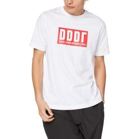 (ディーゼル) DIESEL メンズ Tシャツ ボックスロゴTシャツ 00SW7V0091A S ホワイト 100