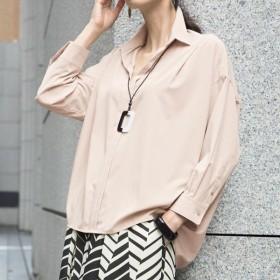 【L-LL】 ストレッチ バックコクーンシャツ F41515