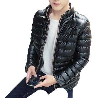 ダウンジャケット 中綿ジャケット メンズ ライト フードなし 立ち襟 ショット丈 カジュアル 分厚い 防風撥水 保温 通学通勤 ストリート アウター 冬物 トップス