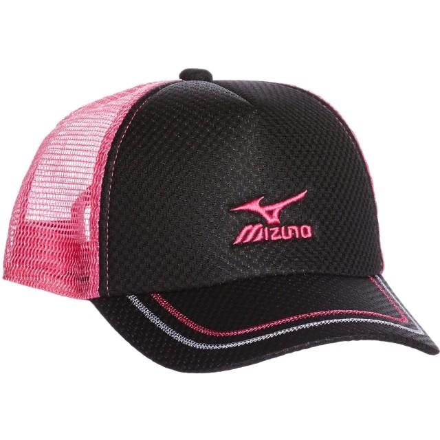 (ミズノ)MIZUNO テニスウェア キャップ [UNISEX] 62JW5200 97 ブラック×ピンク F